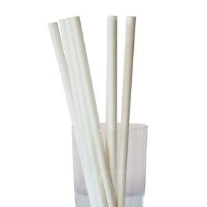 """10.23"""" Giant Milkshake Long White Paper Straws"""
