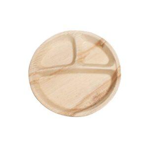 """11"""" Palm Leaf Round Plate"""