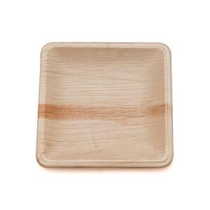 "8"" Palm Leaf Square Plate"