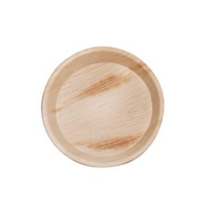 """7"""" Palm Leaf Round Plate"""