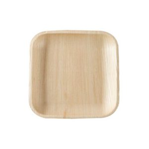 "6"" Palm Leaf Square Plate"