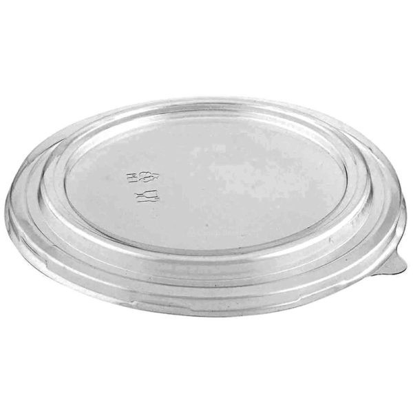 PET Dome Lid for 40oz Round Deli Kraft Paper Container (270/CS)