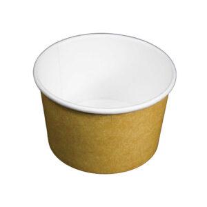 12oz PLA Kraft Compostable Soup Container (500/CS)