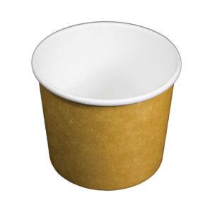 16oz PLA Kraft Compostable Soup Container (500/CS)