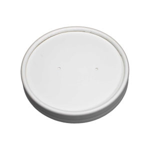 Vented Paper Lid for 8oz/12oz Deluxe Paper Food Containers (250/Case)