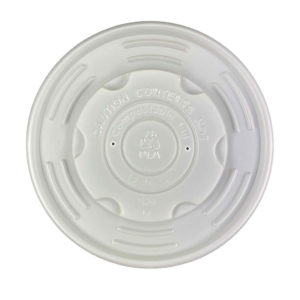 PLA Compostable Vented Lid for 8oz Paper Soup Container (1000/CS)