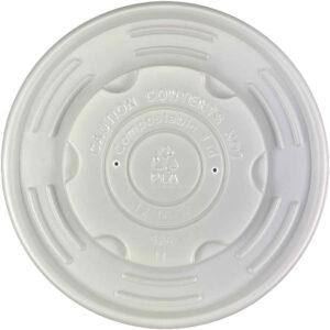 PLA Compostable Vented Lid 12/16/32oz Paper Soup Container (500/CS)
