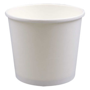 24oz White Deluxe Paper Food Containers (250/Case)