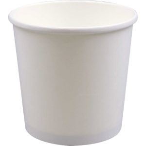 32oz White Deluxe Paper Food Containers (250/Case)