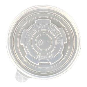 Plastic Vented Lid for 12/16/24/32oz Paper Soup Bowl (500/Case)