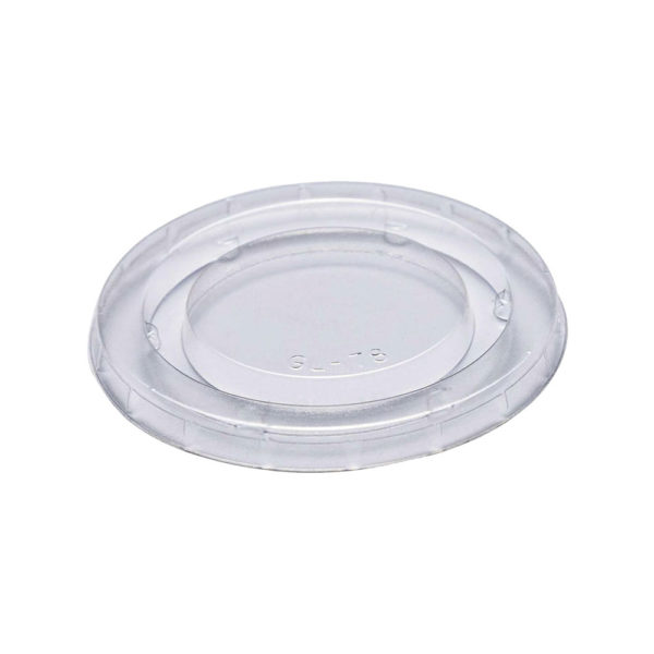 PLA Lid for 4,7,9oz Clear PLA Compostable Cup (100% Compostable) (2000/CS)