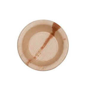 """4 """" Palm Leaf Round Bowl"""