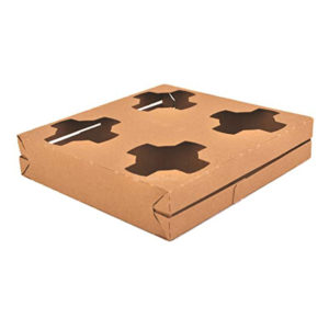 SBSI0120 PAPERBOARD FOUR CUP CARRY OUT TRAY (500/CS) 9 x 7 x 2.25
