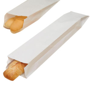 White Paper Bread Bag Plain (1000/Case) 4 x 2 x 24
