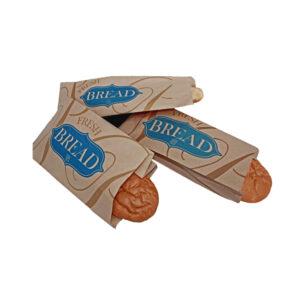 Kraft Paper Bread Bag Vienna Design (1000/Case) 4 x 2 x 19