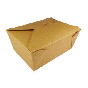 """#4 Kraft Paper Take-Out Boxes 8.5"""" x 6.25"""" x 3.5"""""""