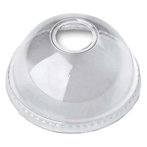 PLA Dome Lid with Hole for 12-24oz Cold Cup