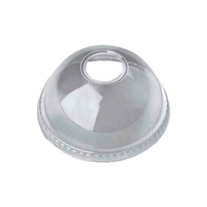 PET Dome Lid with Round Hole for 8oz,9oz & 10oz PET Clear Cold Cups (78mm) (1000/CS)