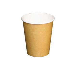 8oz PLA Lined Single Wall Kraft Paper Cup