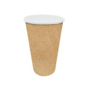 10oz Kraft Paper Single Compostable Hot Drink Cups