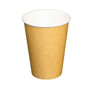 12oz PLA Lined Single Wall Kraft Paper Cup