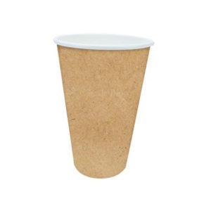 20oz Kraft Paper Single Wall Compostable Hot Drink Cups