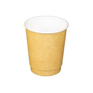 8oz Kraft Paper Double Wall Hot Drink Cups (500/CS)