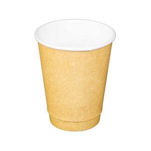 12oz Kraft Paper Double Wall Hot Drink Cups (500/CS)
