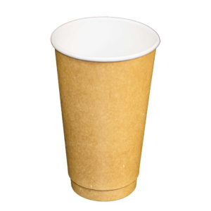 16oz Kraft Paper Double Wall Hot Drink Cups (400/CS)