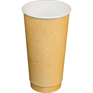 20oz Kraft Paper Double Wall Hot Drink Cups (300/CS)