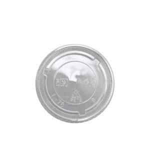 PET Flat lid with X Slot for 8oz,9oz & 10oz PET Clear Cold Cups ( 78mm) (1000/CS)