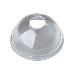 PET Dome Lid with Round Hole for 12oz – 24oz PET Clear Cold Cups (98mm) (1000/CS)