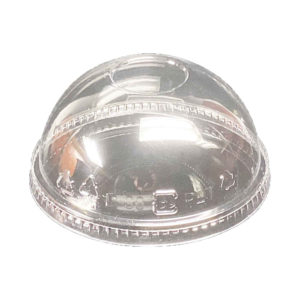 PET Dome Lid without Hole for 12oz – 24oz PET Clear Cold Cups (98mm) (1000/CS)
