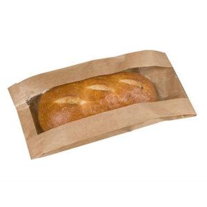 Kraft Mcnairn Paper Window Bread Bag (1000/cs) 4 x 2 x 13