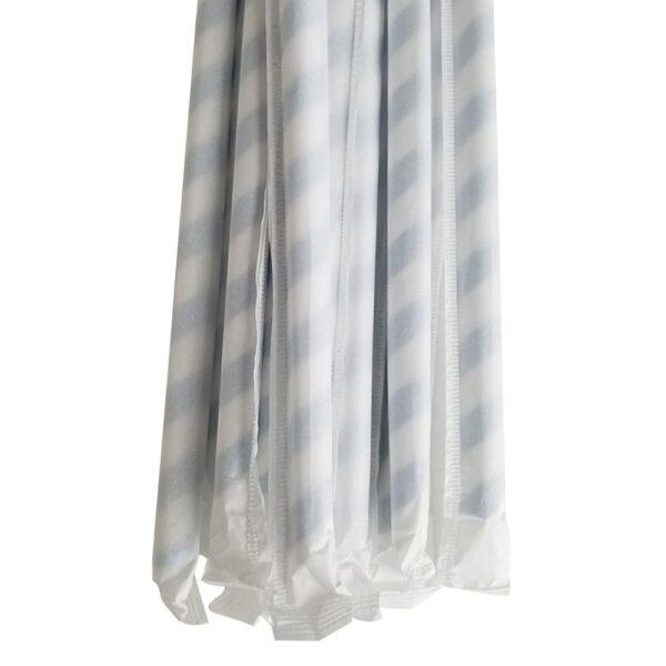 """7.75"""" Giant Milkshake Regular Blue Striped Wrapped Paper Straws"""