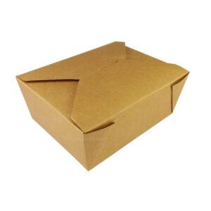 """#8 Kraft Paper Take-Out Boxes 6.75"""" x 5.5"""" x 2.5"""""""