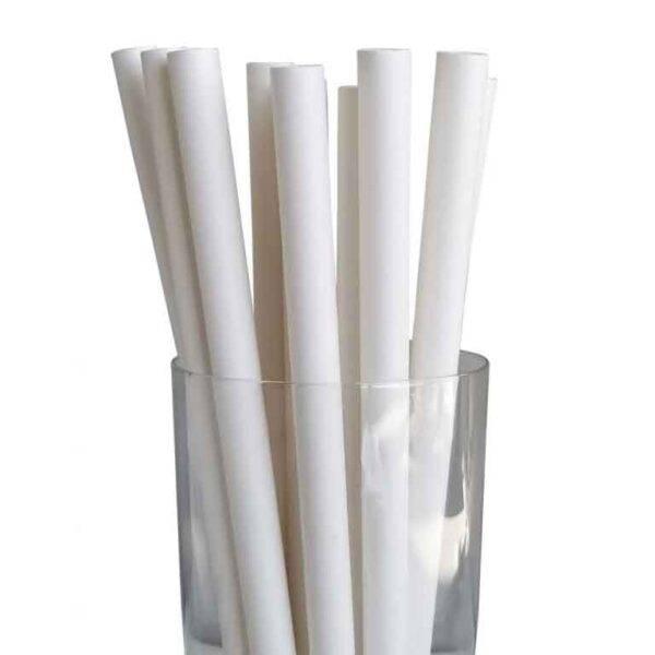 """7.75"""" Colossal Regular White Paper Straws"""