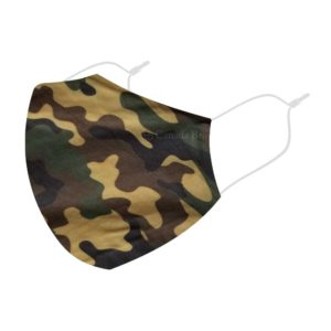 Reusable 3 Layer Military Green Fabric Protective Washable Earloop Face Masks
