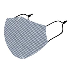 Reusable 3 Layer Blue Checks Fabric Protective Washable Earloop Face Masks
