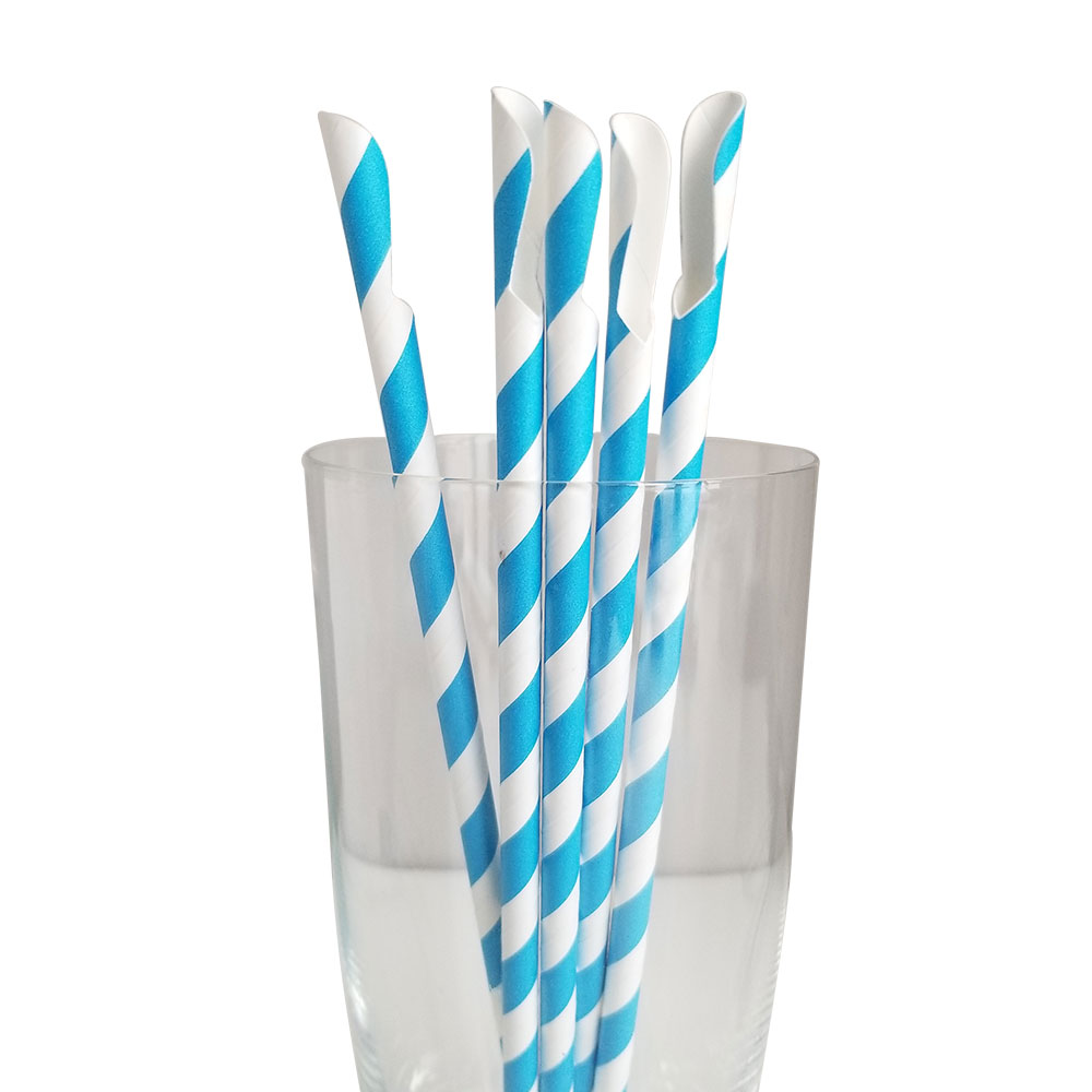 Jumbo- Regular Blue Spoon Straws
