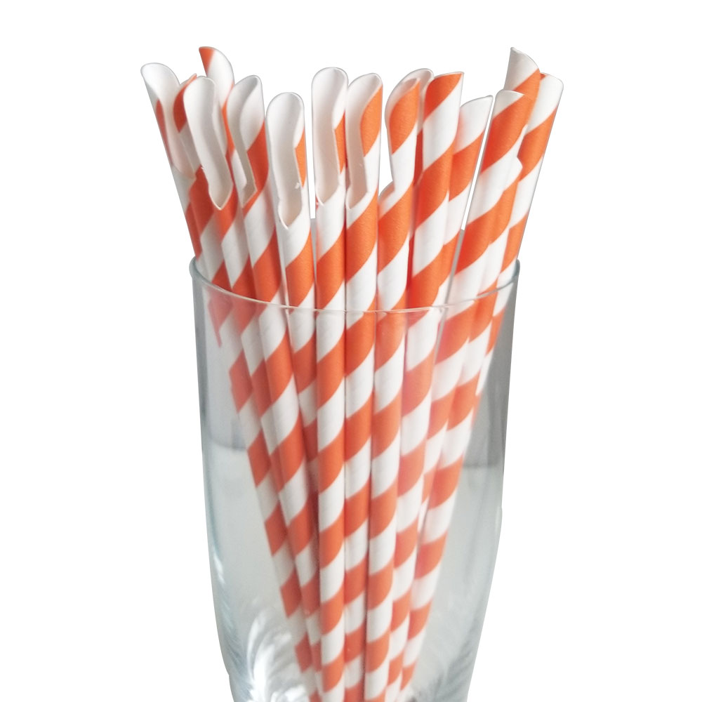 Jumbo Regular Orange Spoon Straws
