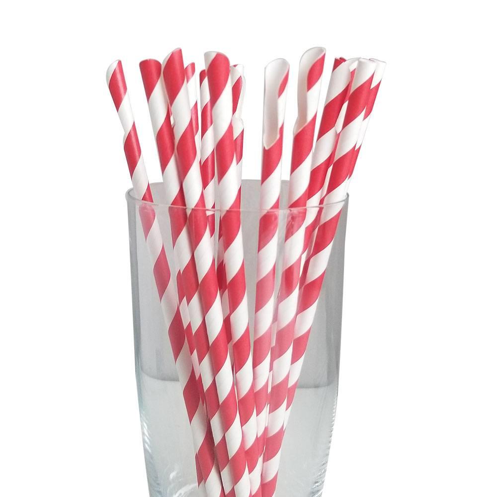 Jumbo Regular Red Spoon Straws