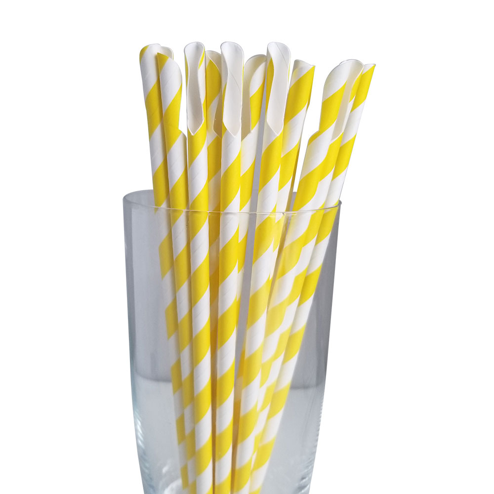 Jumbo Regular Yellow Spoon Straws