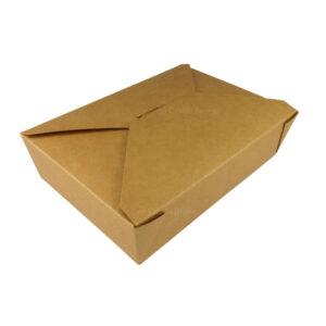 """#2 Kraft Paper Take-Out Boxes 8.5"""" x 6.25"""" x 1.87"""""""