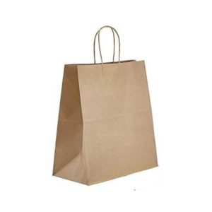 13 x 6 x 15 Kraft Twisted Handle Paper Bags 250/Case