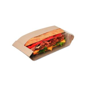 Natural Paper Sandwich Bag Double View (500/CS) 4.25 x 2.75 x 11.75