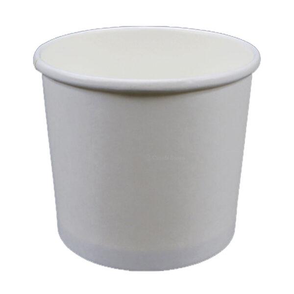 24oz Plain White Paper Food Container (500/CS)