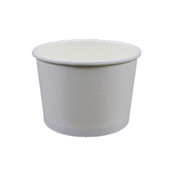 8oz Plain White Paper Food Container (1000/CS)