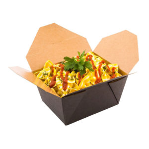 08BPBLACKML 8OZ PAPER TAKE-OUT CONTAINER (300/CS)
