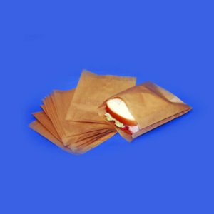 Natural Paper Sandwich Bag Plain (1000/CS) 6 x .75 x 6.75